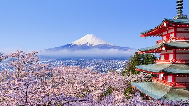 ภูเขาไฟฟูจิในญี่ปุ่น